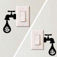 Interrupteur de lumière Wall Art Decal Stickers maison moderne décoration accessoires