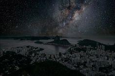 Вот так бы выглядели города, если оставить только свет луны и звезд #попутчик #попутка