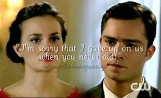 chuck and blair.....One of my very favorite moments,maybe my favorite scene in GG. -Familiar love.