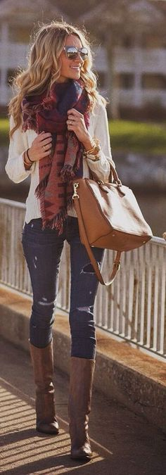 Love the jeans and boots (because theyre skinny for my too tiny calves, boots are always too loose for me).