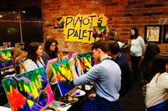 a must-do activity in des moines, IA: pinot's palette. a fun night with your friends and/or family to drink a little wine & bring out your inner picasso.