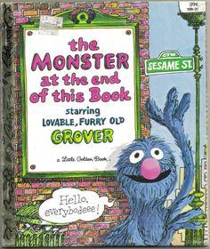 Vintage Sesame Street Little Golden Book Grover by ShopHereVintage, $6.00