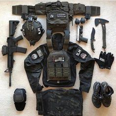 Investing in survival gear can significantly improve your chances of surviving a natural disaster. You should put together an extensive survival kit and work on your survival skills as much as possible. Tactical Armor, Tactical Survival, Survival Gear, Airsoft Gear, Tac Gear, Combat Gear, Tactical Equipment, Military Guns, Military Soldier