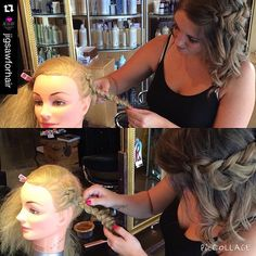 """#education day at the salon! ✨ #yegstylist Tawsha @tawshadawn  is teaching @haileyklein_ #braids! #saloneducation  #saloneducationday #jigsawforhair"" Photo taken by @stylesandthecitybytawsha on Instagram, pinned via the InstaPin iOS App! http://www.instapinapp.com (07/25/2015)"