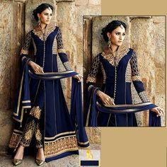 <ul>   <li>Bs09 Full Embroidered Semi Stitched Complete 3 piece Suit</li>   <li>Top :- Chiffon 4.0Mtrs.  Dupatta :- chiffon Embroidered 2.25 Mtrs.  Work :- Embroidery heavy work, zari work,</li>   <li>Indian Soft crepe 3.0 mtr for inner & trouser</li>  </ul>