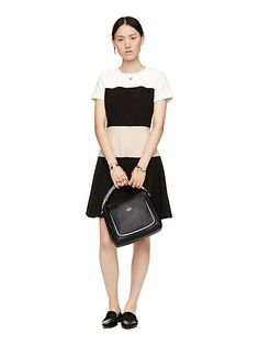stripe crepe dress - kate spade new york