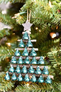 Seasons Greetings Hershey's Kisses Christmas Tree | AllFreeHolidayCrafts.com