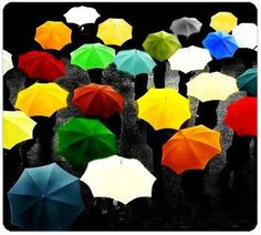 buy a brightly colored umbrella to cheer you up on rainy days ;-)