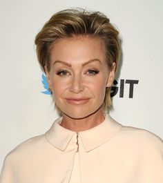 """Pin for Later: It's True — the Modern Mullet Hair Trend Is Happening Portia de Rossi At the #TGIT premiere event, Portia's cropped coif (referred to as a """"power mullet"""" by a Scandal writer) had serious volume."""