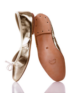 Porselli quality leather ballet flats from Milan