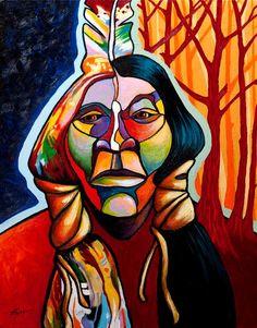joe triano paintings | Transformation by Joe Triano | Native Americans on canvas | Pinterest