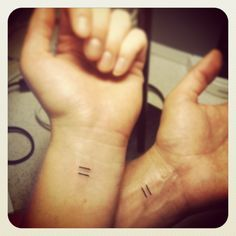 Equality tattoo. Because love is love.