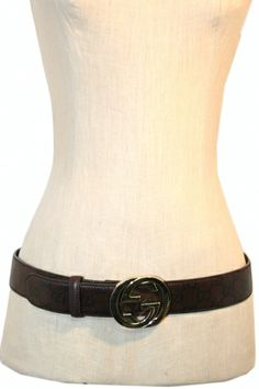 """The Turnabout Shoppe Gucci """"Guccissima"""" Belt (size 90 US size 36)"""