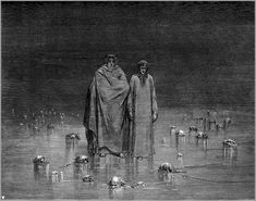 One of many memorable scenes from Dante's Inferno By Gustave Dore...