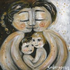 mother and child art - moments of motherhood captured in paint on canvas. Original art for sale, featuring mother and son, mother and daughter, family portraits and emotion. Print Image, Canvas Prints, Art Prints, Sign Printing, Mother And Father, Kind Words, Mom And Dad, Art For Kids, Illustration