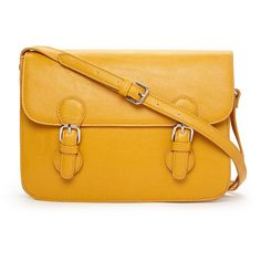 FOREVER 21 Runaround Faux Leather Satchel ($20) ❤ liked on Polyvore featuring bags, handbags, purses, yellow, vegan handbags, purse satchel, faux leather purses, man bag and yellow hand bags