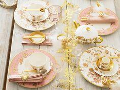 Setting de mesa en rosa y dorado #bodas / Pink and gold #wedding table setting