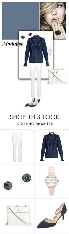 """White and Blue"" by modalist ❤ liked on Polyvore featuring Étoile Isabel Marant, STELLA McCARTNEY, Kate Spade, Kara and Sam Edelman"