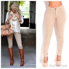 🆕 TAUPE STERTCH  SKINNY PANTS Reasonable offers will be acceptedDescription: Sporty Jersey material is employed for athletic stretch & skinny pants. Material, in favor of softness comfort, movement and ease of use. It features a zip button closure, faux pockets at front and two pockets at back. Tonal stitching. Belt loops. Only 1 small 1 medium 1 ❌No Trades Pants Skinny