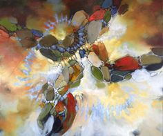 Abstract by Blu Smith, the avenue gallery Vancouver