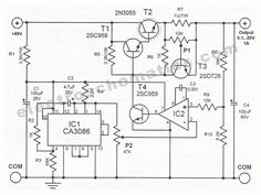This power supply circuit is highly stabilized that its output voltage will drop only even though the load changes from 0 to Another Electronics Basics, Electronics Projects, Solar Tracker, Voltage Divider, Whole House Water Filter, Power Supply Circuit, Solar Inverter, Electronic Schematics, Circuit Diagram