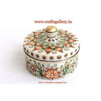 Marble Jewellery Box - Online shopping INDIA - Buy Handicrafts,Gifts, Crafts, home decor, Decorative, Indian Handicrafts, Paintings, Wall decor Items
