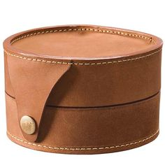 leather fly reel case