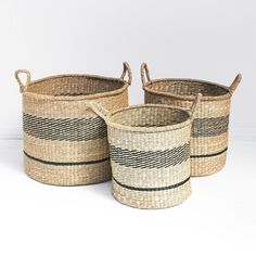 The Importer - Scandi Seagrass Basket - 3 Sizes