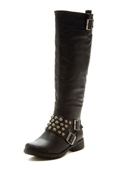 Groove Nikki Hammered Stud Buckled Boot <3