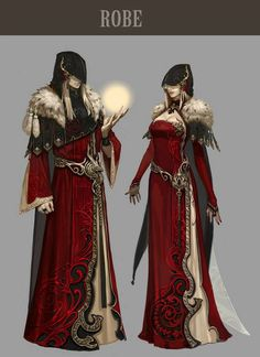 Aion 4.0 concept art - love the details and contrast, the cut outs on the robes are beautiful