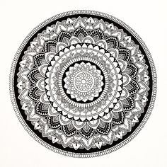 """83 Likes, 5 Comments - Kelsey (@kelsey_jayne_) on Instagram: """"This pic is annoyingly crooked but I give up #mandala #mandalaart #pen #bw #lineart…"""""""
