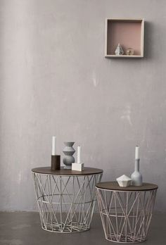 Geometric Decor Ideas - Side Tables - Neutral Tones - Living Room