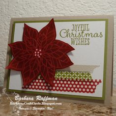 Joyful Christmas stamp set, Season of Style Washi Tape, Cherry Cobbler Embossing Powder
