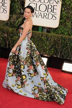 Lucy Liu, #GoldenGlobes- LOVE this dress!