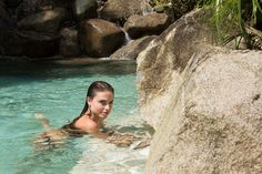 Love our natural saltwater pool made with huge boulders and quartz rock. Time to relax in the sun.  #naturalpools #saltwaterpool #vistacelestial #costarica