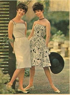 Love the sweet and chic floral pattern! #vintage #1960s #fashion #dress