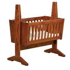 Amish Mission Baby Cradle