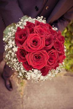 Bridal bouquet  Black magic roses+gipsophila+galax leaves