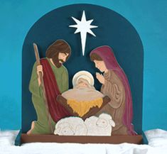 "I would love this for Christmas. Not the pattern, that finished product. -- This back-lit silhouette nativity is truly the most veratile yard display! Day or night, this gorgeous, highly visible Nativity reminds us all of the true meaning of Christmas. Easily made from our full-size pattern. (56"" tall)"