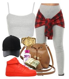 """""""Untitled #438"""" by melaninprincess-16 ❤ liked on Polyvore featuring Topshop, Tory Burch, Amiee Lynn, NIKE and Nixon"""