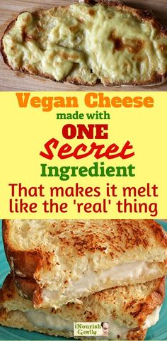 The ONE Secret Ingredient That Makes This Vegan Cheese Melt And Taste Better Than The Real Thing! is part of The One Secret Ingredient That Makes This Vegan Cheese Melt - Dream Come True Vegan Cheese Recipes, Vegan Cheese Sauce, Vegan Sauces, Vegan Foods, Vegan Dishes, Dairy Free Recipes, Raw Food Recipes, Vegan Gluten Free, Vegetarian Recipes