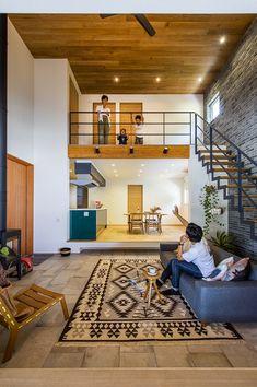 Home Stairs Design, Loft Interior Design, Home Building Design, Home Room Design, Loft Design, Home Design Plans, Unique House Design, Tiny House Design, Loft House