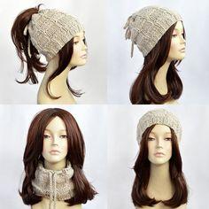 Ponytail Hat Scarf Ponytail Beanie Transformer Hat Hat with Bonnet Crochet, Crochet Beanie, Knitted Hats, Crochet Hats, Crochet Pattern, Ponytail Beanie, Beanie Hats, Easy Knitting Patterns, Hats For Women