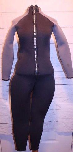 Harvey's Suit M/L Black Gray Women's Full Length Deep Sea Diving Pants Wet Suit  #Harveys