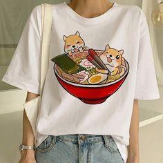 Shiba Inu T Shirt Funny Cute Animal Shirt Funny Graphic Korean Clothing - Graphic Shirts - Ideas of Graphic Shirts - Shiba Inu T Shirt Funny Cute Animal Shirt Funny Graphic Korean Clothing Shiba Inu, Aesthetic Shirts, Aesthetic Clothes, Aesthetic Fashion, Cheap T Shirts, Cute Shirts, Japanese Harajuku, Harajuku Fashion, Harajuku Style