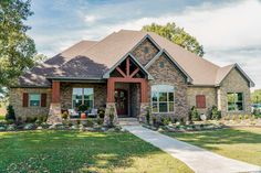 Ranch House Plan Front of Home for Home Plan also known as the Cheswick Rustic Ranch Home from House Plans and More. House Plans And More, Best House Plans, Dream House Plans, House Floor Plans, New Home Plans, Craftsman Style House Plans, Ranch House Plans, Modern Craftsman, Craftsman Kitchen