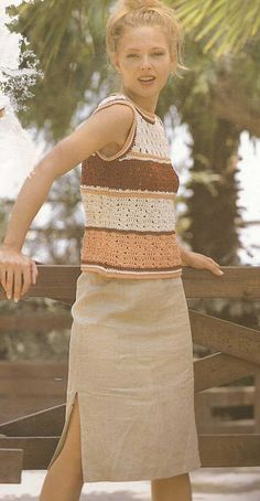 Patrón #914: Blusa a Crochet  #ctejidas http://blgs.co/le6gnC