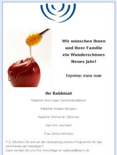 Schana Towa von Ihre Rabbinats-Team