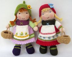 Knitted doll pattern More