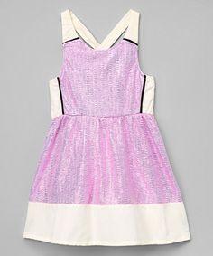 Love this Pink Sparkle A-Line Dress - Infant, Toddler & Girls on #zulily! #zulilyfinds